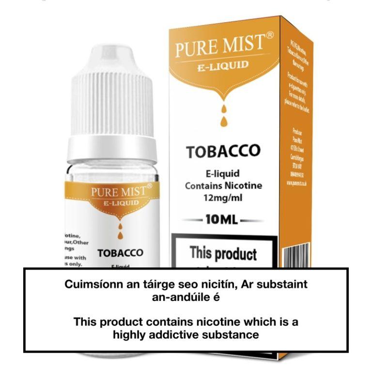 Pure Mist Tobacco 10ml e liquid