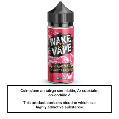 Wake & Vape Strawberry, Coconut & Pineapple 100ml