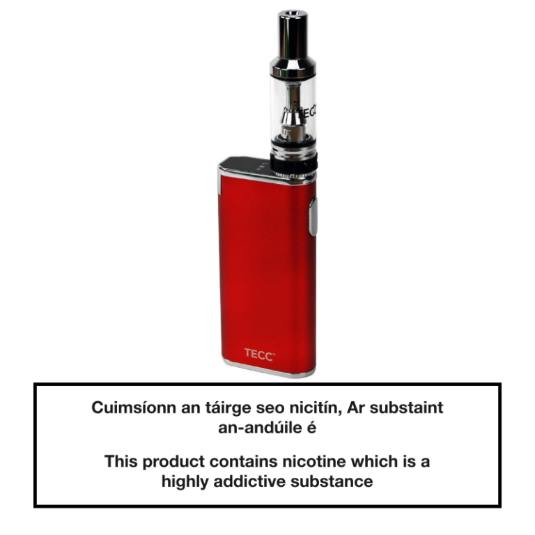 TECC arc Slim E-cig Kit - Red