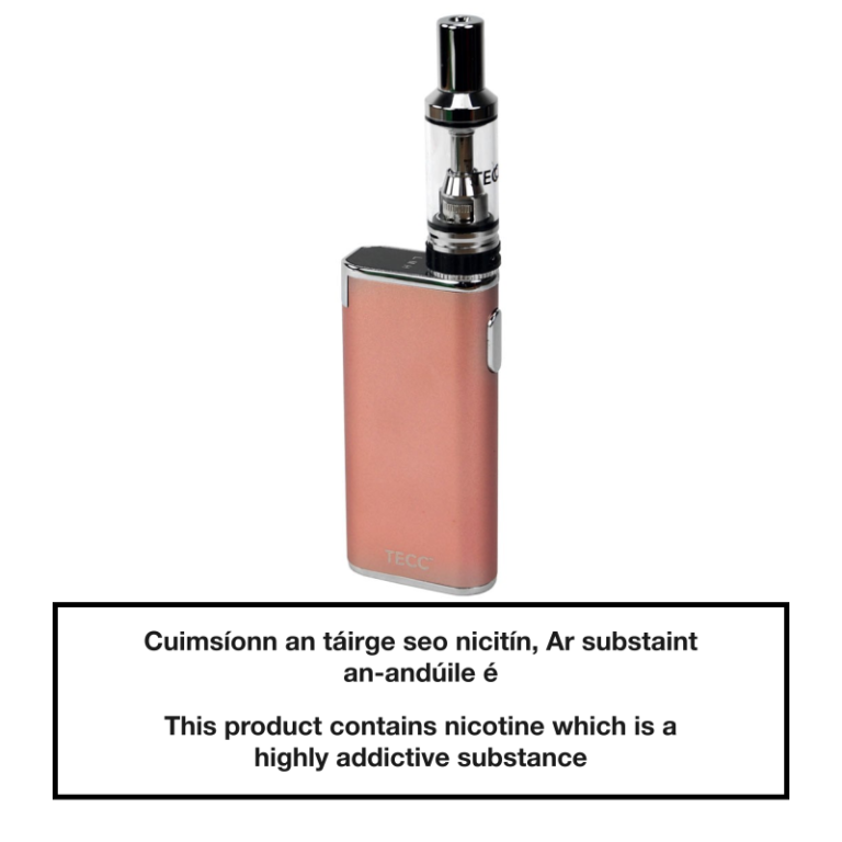 TECC arc Slim E-cig Kit - Rose Gold