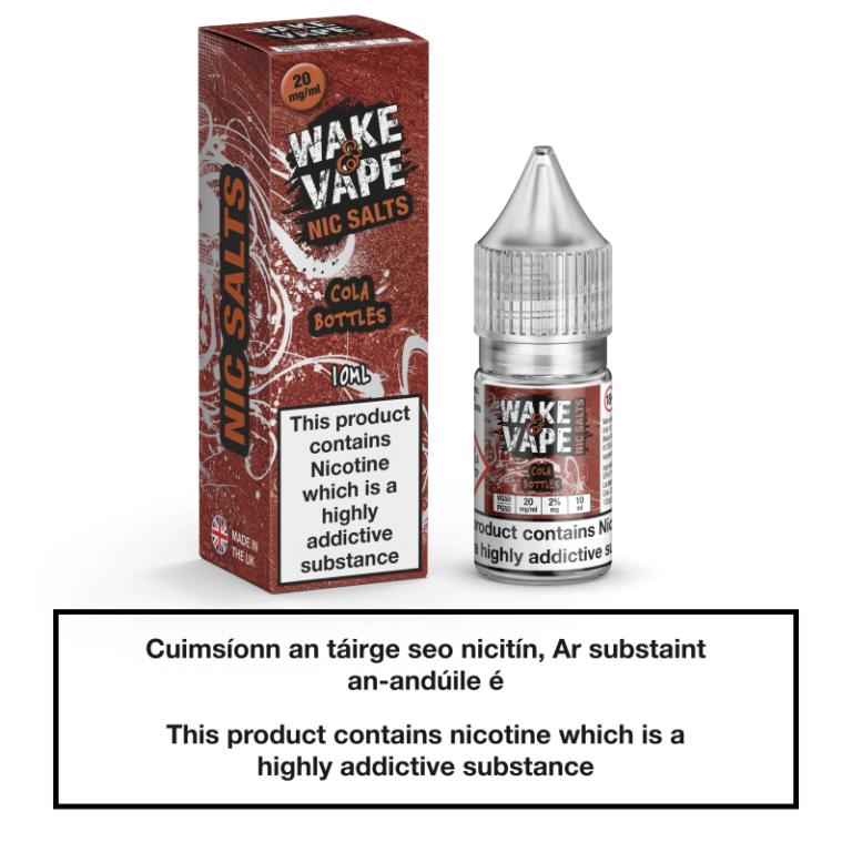 Wake & Vape Nic Salts - Cola Bottles 10ml