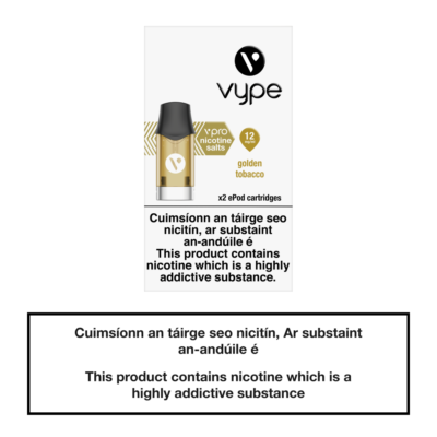 Vype ePod Cartridges Golden Tobacco - 12mg