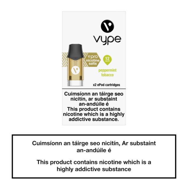 Vype ePod Cartridges Peppermint Tobacco - 12mg