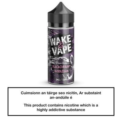Wake & Vape Blackcurrant Bubblegum 100ml