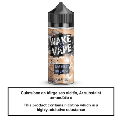 Wake & Vape Blueberry Jam Danish 100ml